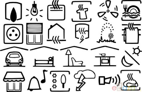 Electric Symbols clip art Free vector