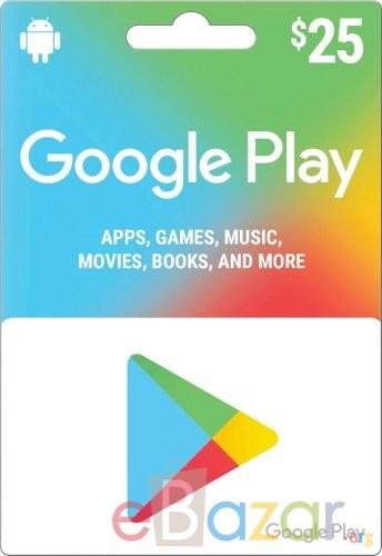 GOOGLE PLAY GIFT CARD $25 (USA)