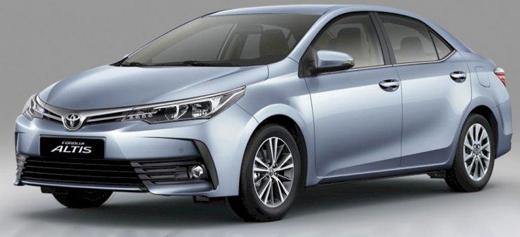 Toyota Corolla Altis True-Blue Color Price in Bangladesh.