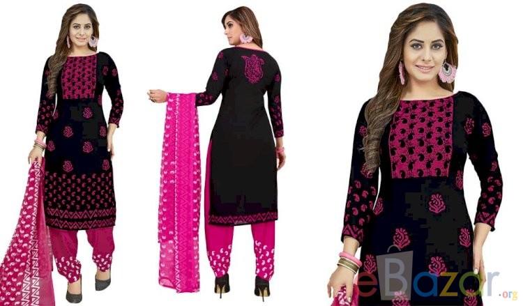 Printed Unstitched Salwar Suit | প্রিন্টেড সালোয়ার