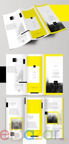 Bold and Bright Trifold Brochure Layout
